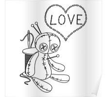 voodoo doll love stitch Poster