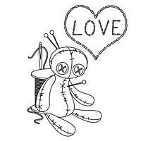 voodoo doll love stitch Photographic Print