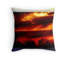 Sunrise at the Port of Montreal (card) Throw Pillow