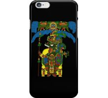 Great Mayan ruler of Tikal on his throne iPhone Case/Skin