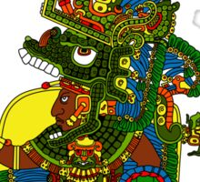 Great Mayan ruler of Tikal on his throne Sticker
