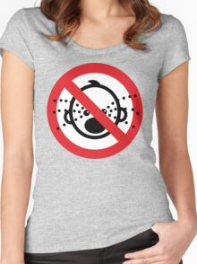 NO Cry Babies Sign Women's Fitted Scoop T-Shirt