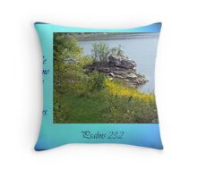 """""""He leads me beside still waters"""" Throw Pillow"""