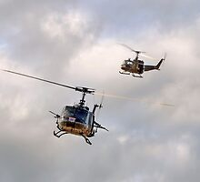 Bell UH-1 Iroquois Helicopters - (A Pair of Hueys) by © Steve H Clark Photography