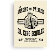 Dr. King Schultz Canvas Print