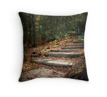 Wooded Staircase Throw Pillow