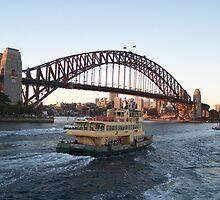 Sydney Harbour Bridge Sunset by Peter Walters