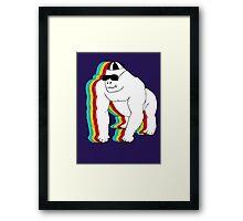 MR COOL GORILLA T-SHIRT Framed Print