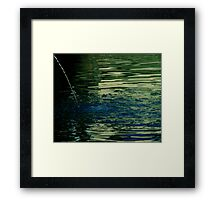 Fountain and pool Framed Print