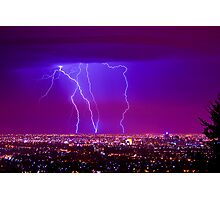 Lightning over Adelaide Photographic Print