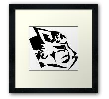 Feline Head Framed Print