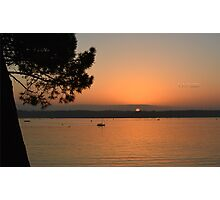 """"""" Sunset On A Tranquil Harbour """" Photographic Print"""
