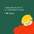 I Love Sleeping by Hylke Bons