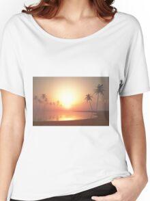 Tropical Sunset Women's Relaxed Fit T-Shirt