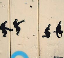 Silly Walk graffiti  by Sue Porter