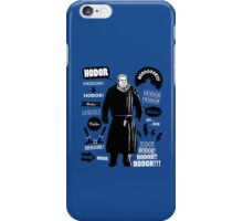 Hodor Famous Quotes iPhone Case/Skin