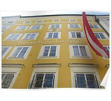Mozarts Geburtshaus Poster