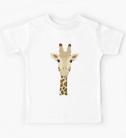 Golden Glitter Giraffe Kids Tee