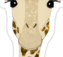 Golden Glitter Giraffe Sticker
