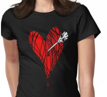 it's halloween in my heart... Womens Fitted T-Shirt