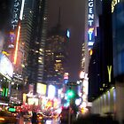 Rainy Times Square by Leonard Owen