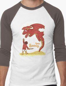 How to Train your Smaug Men's Baseball ¾ T-Shirt