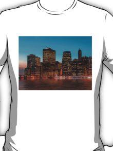 Manhattan at night T-Shirt