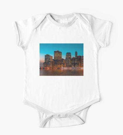 Manhattan at night One Piece - Short Sleeve