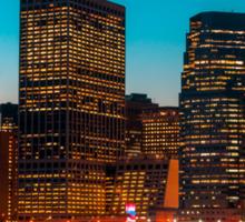 Manhattan at night Sticker