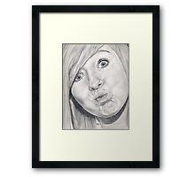 Kiss?? Framed Print