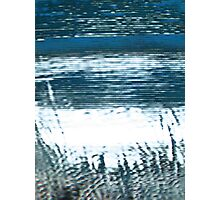 Pixel Beach Blue and Green Photographic Print