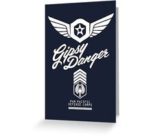 Gipsy Danger (White) Greeting Card