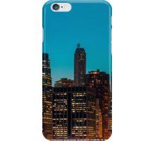 Manhattan at night panorama iPhone Case/Skin