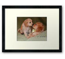 Love & Kisses Framed Print