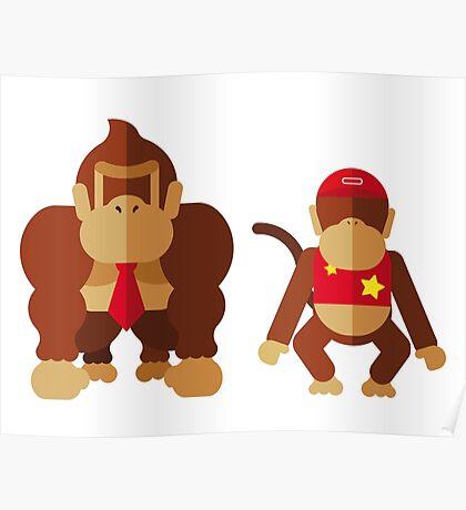 Cool monkeys Poster
