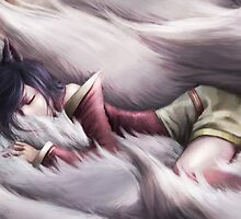League of Legends - Ahri sleeping by ghoststorm
