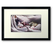 League of Legends - Ahri sleeping Framed Print