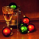 Ginger Wine and Christmas Baubles by ssalt