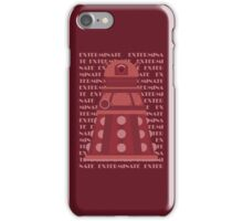 Exterminate Red iPhone Case/Skin