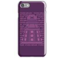 Exterminate Purple iPhone Case/Skin