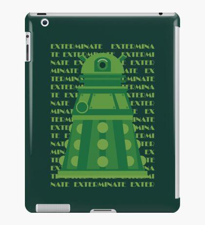 Exterminate Green iPad Case/Skin