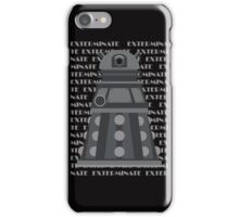 Exterminate Black iPhone Case/Skin