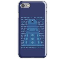 Exterminate Blue iPhone Case/Skin