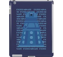 Exterminate Blue iPad Case/Skin