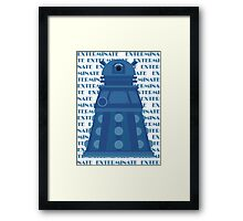 Exterminate Blue Framed Print