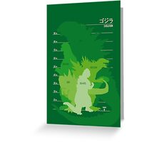 Monster Evolution Green Greeting Card