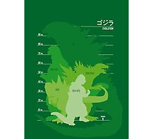 Monster Evolution Green Photographic Print