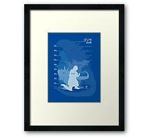 Monster Evolution Blue Framed Print