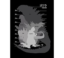 Monster Evolution Black Photographic Print