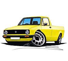 VW Caddy Yellow Photographic Print
